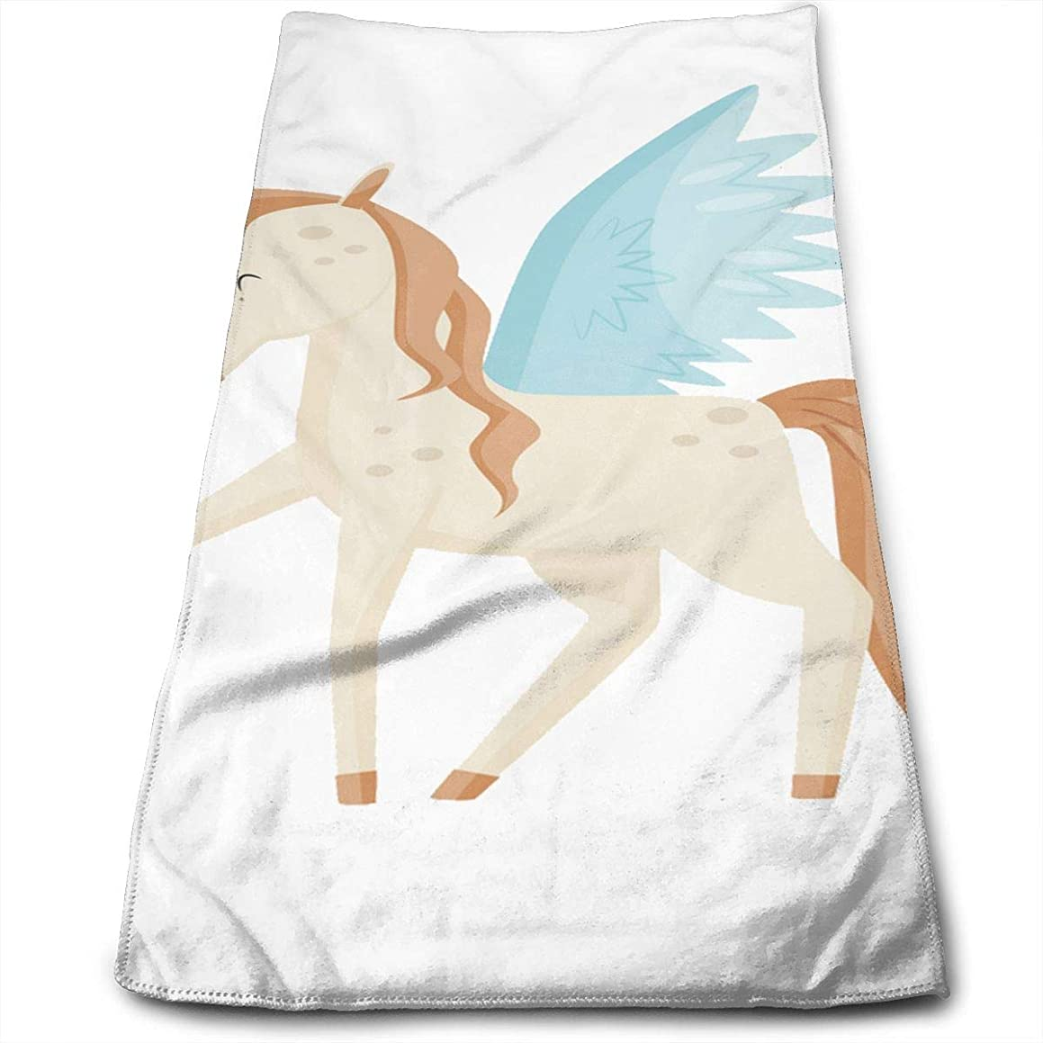 Yuzhuang Pegasus Winged Horse Mythical Creature Customized Facial Wash and Hair Care Absorbent Towel,Pool Gym Bathroom Super Soft Towels