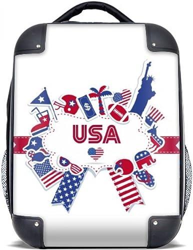 DIYthinker Drapeau Etats-Unis Independence Day Celebration Hard Case épaule transportant des enfants Sac à dos 15  cadeau