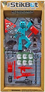 #StikBot Action Pack Figure Roleplay Accessory Set (Blue, Weapon Pack)