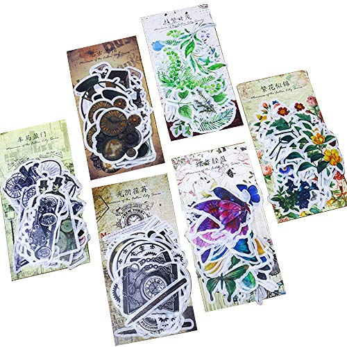 360 Pcs DIY Decorative Stickers/Creative Hand Account Sticker/Album Diary Decoration Stickers,Plants Floral...