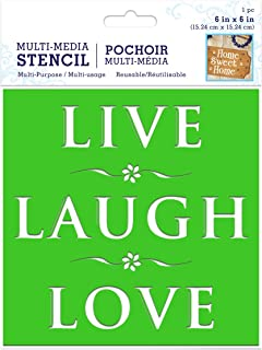 Live Laugh Love Word Stencils Chalk Stencils Reusable Stencils Home Stencil Quote Stencils letter Stencils for Painting Love Stencil Family Sayings Wall Art Farmhouse Stencil Quotes Stencil Sayings 6