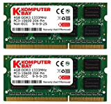 Komputerbay 8GB (2x4GB) DDR3 SODIMM (204 pines) 1333Mhz PC3 10600 para Apple de 8 GB
