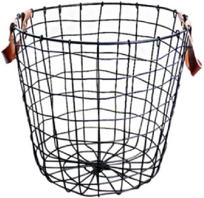 SDHKE 2 Black Small Household Baskets Max 51% Tucson Mall OFF Metal Sundries Storage Cl