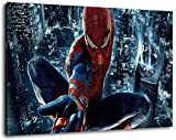 Spiderman Format 80x60 cm Bild auf Leinwand, XXL riesige
