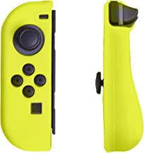 HDE Silicone Skin for Nintendo Switch Controllers Joy Con Gel Guards Anti-Slip Comfort Grip Contoured Left/Right Protective Covers (Yellow)