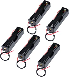 KeeYees 3.7V 電池ボックス 電池ケース 18650バッテリー用 リード線付き プラスチック製 5個入り