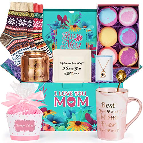 Best Gifts for Mom Mom Gifts for Mothers Day Gift Basket Mom Gifts Set  Mom Birthday Gifts from Daughter Son Christmas Gifts New Mom Gift Basket Gift for Mother in Law Expecting Mom Gift Box