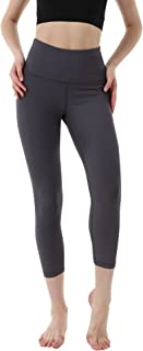 "OUTOF Women's Power Yoga Pants - 5"" High Waist Band Tummy Capri - Control Shapewear with Streamlined Design Leggings"