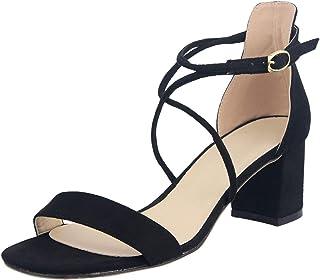 Femme Vintage Style Français velours Bride Arrière Talon Bloc Sandales De Plage Chaussures SKGB
