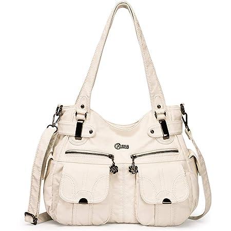 KL928 Tasche Damen Handtasche Umhängetaschen Damenhandtasche Schultertasche Lederhandtasche elegante Taschen hand taschen Henkeltaschen für frauen mit vielen fächern (Aprikose)