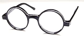 The Cambridge Iris Style Round Reading Glasses, Totally Round +1.25 Black (Carrying Case Included)