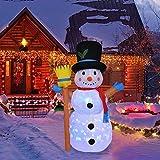 1,2 M Muñeco Nieve Navidad Inflable, Decoraciones de Jardín de Navidad Inflables para Exteriores Dec...