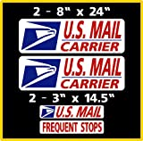 """4 Piece Magnet Set Get your custom look while alerting other drivers who you are. commercial grade magnet material .03"""" thick. This Set consists of 2 door signs that are 8"""" x 24"""", 2 signs for the rear that are 3"""" x 14.5""""."""