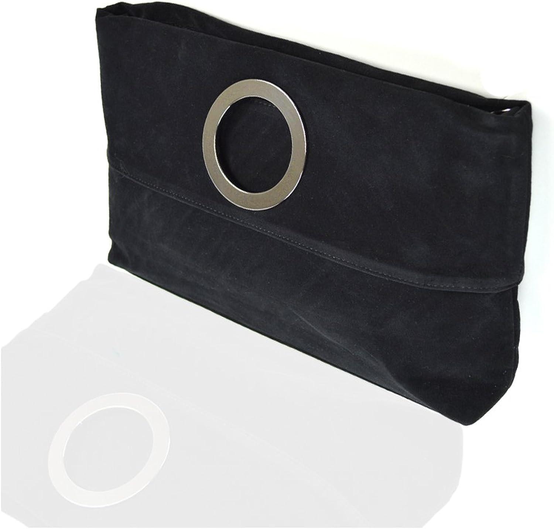 Essex Glam Women's Synthetic Foldable Fashion Clutch Handbag