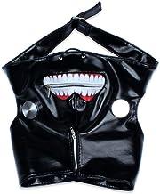 Edealing 1PCS Cosplay Tokyo Ghoul Kaneki Ken cremallera ajustable PU Máscara de Halloween Prop