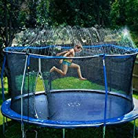Foomoon Trampoline Sprinklers Water Spray for Kids, Ourdoor Boys Girls Fun Summer Water Game Sprinkler Accessories
