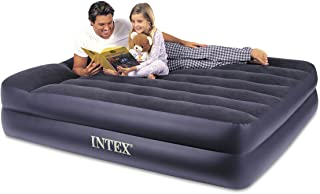 Intex Pillow Rest Raised Airbed with Built-in Pillow and Electric Pump, Queen, Bed Height 16.5""