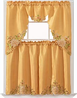 Amazon Com Gold Kitchen Curtains