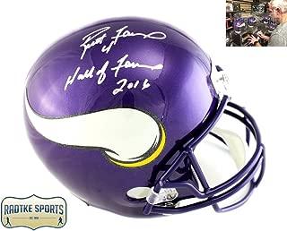 Brett Favre Autographed/Signed Minnesota Vikings Riddell Full Size NFL Helmet with