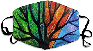 Colorful Tree Face Mask - Comfortable, Re-Usable Anti Dust Mask - Filters Dust, Pollen, Allergens, Flu Germs - Allergy Mask - Ideal for Dog Grooming, Gardening, Sanding