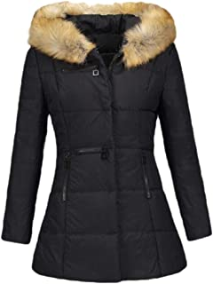 Women Thickened Hooded Winter Down Jacket Outwear Puffer Down Coats with Pockets