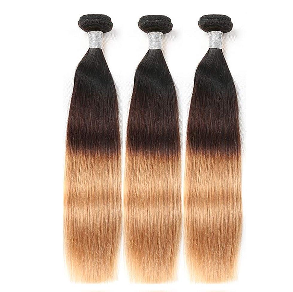 ステーキのり人に関する限り女性150%密度髪織りストレートヘアバンドルブラジルストレートヘアバンドル人間の髪バンドルブラジル髪バンドルブラウンバージンヘア