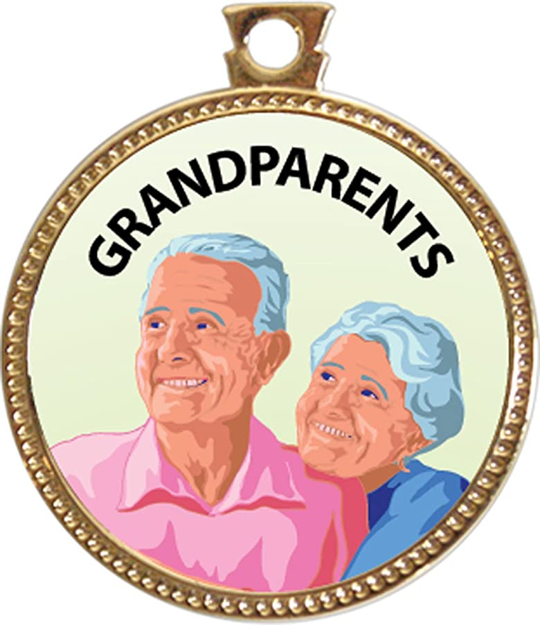 Keepsake Awards Grandparents Award, 1 inch dia Gold Medal Serving Others Collection
