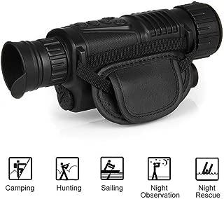 GYTOO 5X10 Digital Monocular Trail Camera IR Infrared Hunting Night Vision Goggles Scope Night Vision Hunt Night Riflescope Telescope for Wildlife Watching