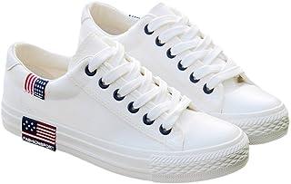 [ファッション メーカ] F&M スニーカー レディース 厚底スニーカー ローカット ぺたんこ フラット 歩きやすい シンプル 編み上げ レースアップ オシャレ 黒 白 大きいサイズ
