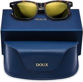 Vintage Polarized Sunglasses for Men Women - DOUX Classic...