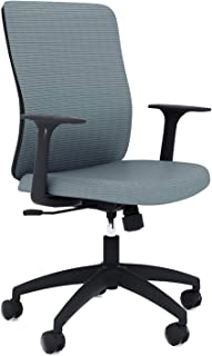 Sunon Home Office Computer Mid Back Mesh Chair Adjustable Seat Height, 24 x 23 x 38 in, Grey