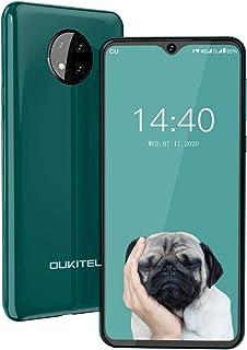 OUKITEL C19 SIMフリースマートフォンAndroid 10.0 4GデュアルSIM携帯電話6.49インチ4000mAhバッテリーフェイスアンロック13MP + 0.3MP + 0.3MP 3眼カメラ 1年間保証