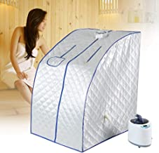 Pliable Sauna Steamer Box Portable Fumigation Machine Barrel Detox Slimming Spa Double 1000W 9 Modes 95 Min Sac De Rangement T/él/écommande Fen/être Visible