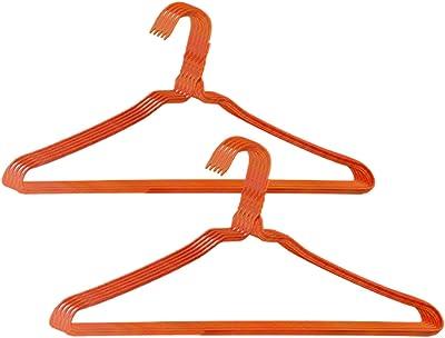 オリタニ 針金ハンガー φ2.7×40cm幅 50本セット (オレンジ)