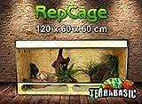 TerraBasic RepCage 120 x 60 x 60 con ventilación lateral y pasarela de cristal