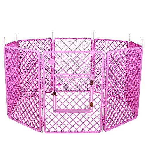Iris Ohyama, Recinto per cani / Outdoor Gabbia - Pet Circle - H-908, Di Plastica, Di Colore Rosa, 11, 4 Kg, 60 X 60 X 86 Cm