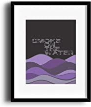 Music Quote Print Inspired - Matted and Framed Options - Smoke on the Water