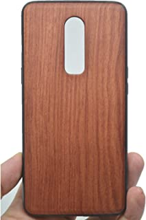 VolksRose OnePlus 6 Wooden Case - Premium Quality Natural Wood Hard Case Shock Absorbing Protective Phone Cover - Rosewood and PC