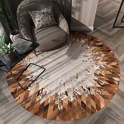 Miwaimao Alfombra de área redonda para salón, dormitorio, cocina, patio, mesa de café, sillón, cesta para colgar 150 cm, 120 cm