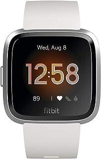 Fitbit Versa Lite - Reloj Deportivo Smartwatch Adultos Unisex Blanco/Plata Aluminio Talla única