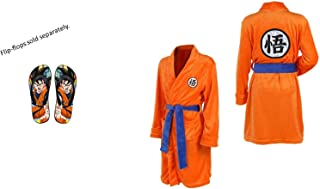 1bea3540ca Tresbon Products Dragon Ball Z Goku Anime Sleepwear Nightwear Bathrobe Flip  Flops Robe Sold Separately Orange