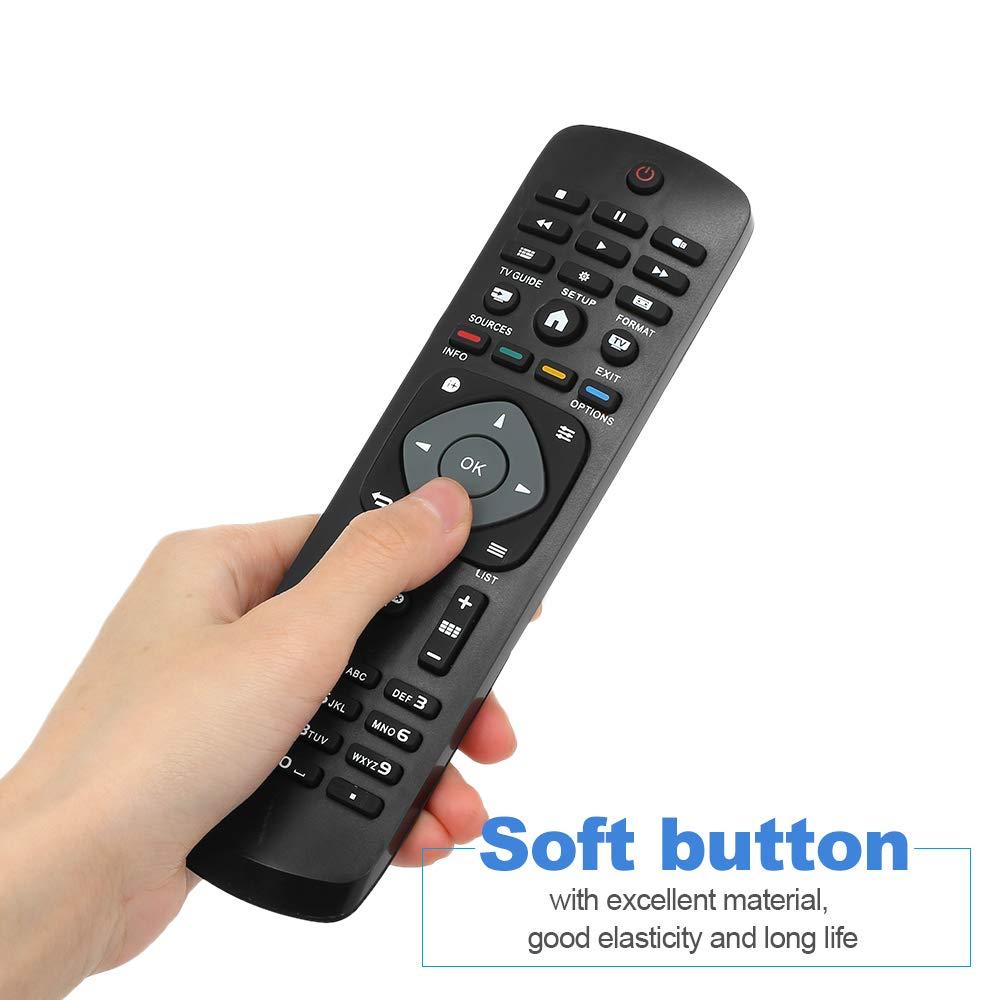 Gamogo Reemplazo Universal del Mando a Distancia inalámbrico Universal del Control Remoto de TV para Philips LCD TV Smart Digital HDTV Negro: Amazon.es: Electrónica