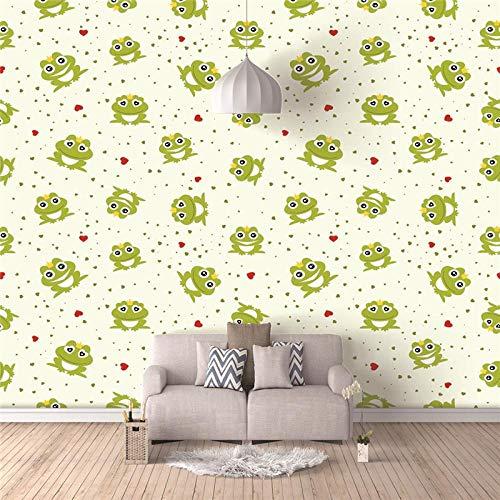 RJYHJL Papel Pintado 3D Fotomural Rana Pared Mural Papel Tapiz Pared Moderno Wallpaper A200 x L140 cm