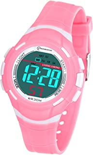 Kids Digital Watches for Girls Boys,Outdoor Sports Waterproof Multi Function Wristwatch with Alarm/Timer/LED Light/Dual Ti...