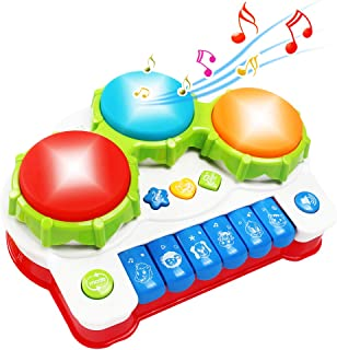 Tomons Baby Musical Toys, Music Drum Piano Toys for 6 to 12 Months Infant Toddler Kids
