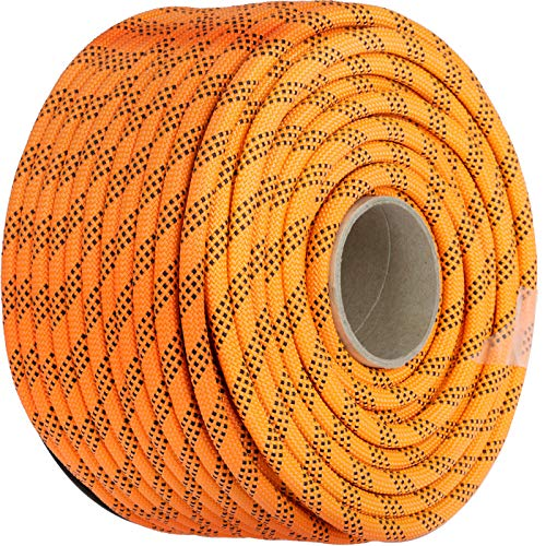 Mophorn 7/16 Inch Double Braid Polyester Rope 200 Feet Nylon Pulling Rope 880LB High Force Polyester Load Sailing Rope for Arborist Gardening Marine (7/16 Inch-200Feet)