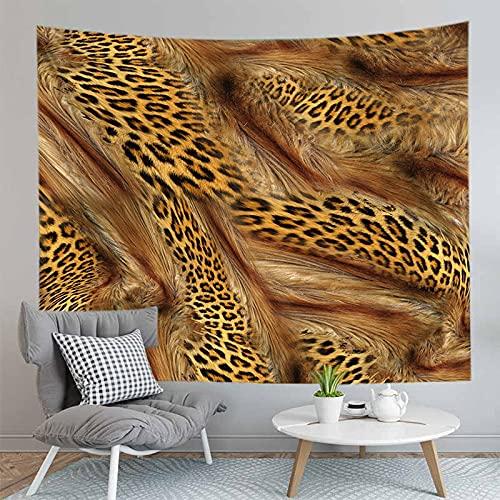 PPOU Leopardo patrón de Piel de Animal Tapiz Colgante de Pared Colcha Estera de Playa decoración del hogar Tapiz de Tela de Fondo A4 73x95cm