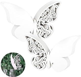 HO2NLE 100pcs Etiquetas Mariposas Decorativas Boda Tarjetas