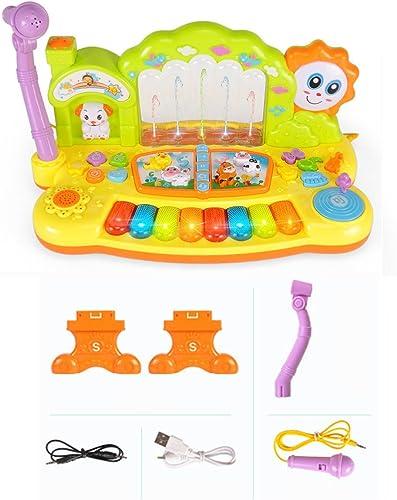 Kinder Tastatur Wiederaufladbare Frühkindliche P gogische Kinder Musikspielzeug Mit Mikrofon