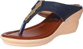 Khadims Casual Women Heels Sandals with Comfortable Wedge Type Heel